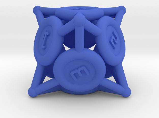 "d8 ""Spikes"" in Blue Processed Versatile Plastic"