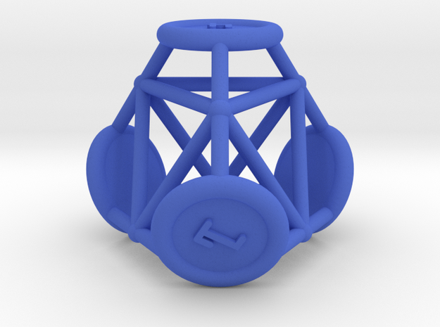 "d4 ""Spikes"" in Blue Processed Versatile Plastic"