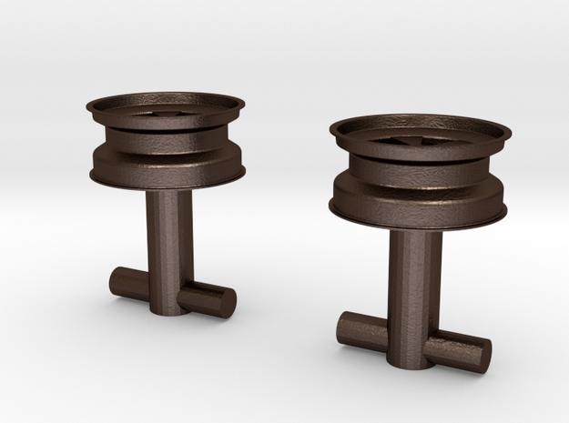 Fuchs wheel cufflink 3d printed