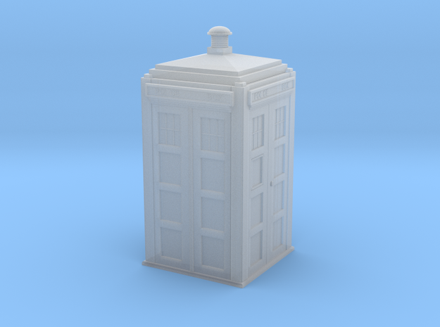 Dr Who's TARDIS (5 cm) in Smooth Fine Detail Plastic