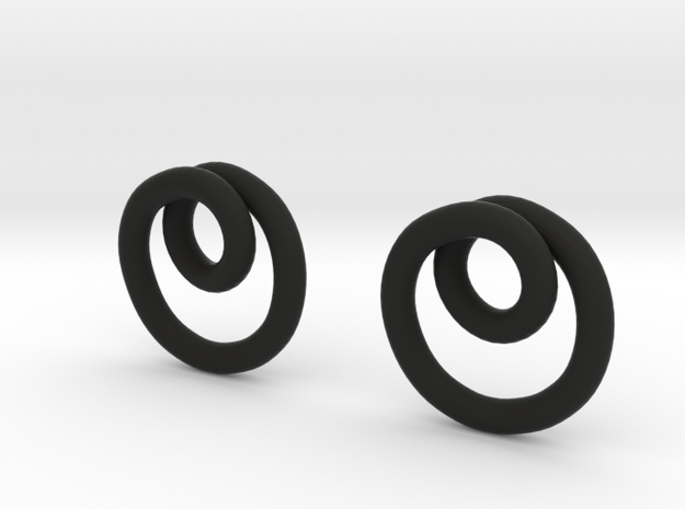 Infinite loop earring 3d printed