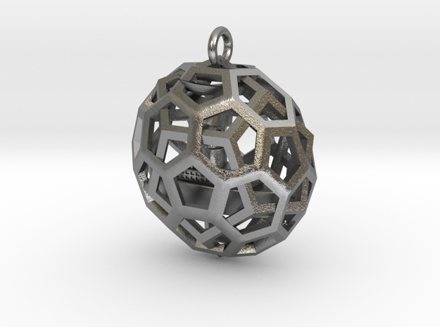 QUASI-DUALITY PENDANT WITH BOAT INSIDE  3d printed