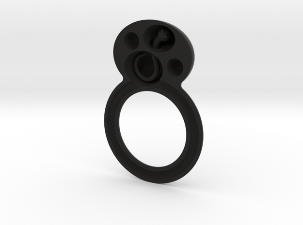 deel 1 ring met worm 3d printed