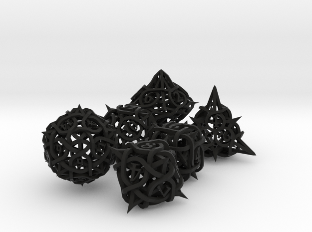 Thorn Dice Set 3d printed