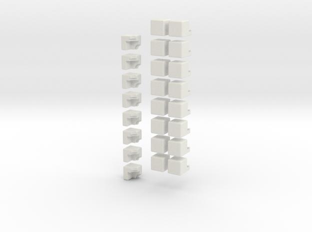 2/3rds cross cube in White Natural Versatile Plastic