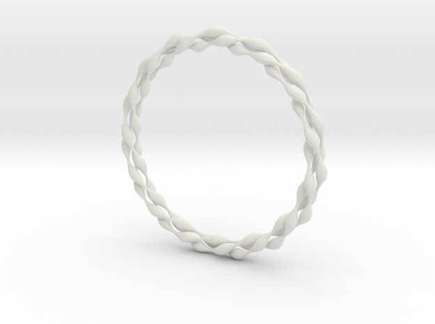 Ripples Bangle in White Natural Versatile Plastic