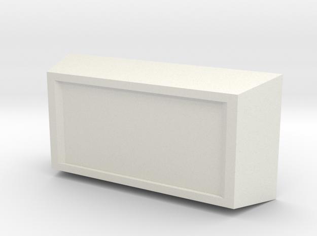 Metal Bar in White Natural Versatile Plastic
