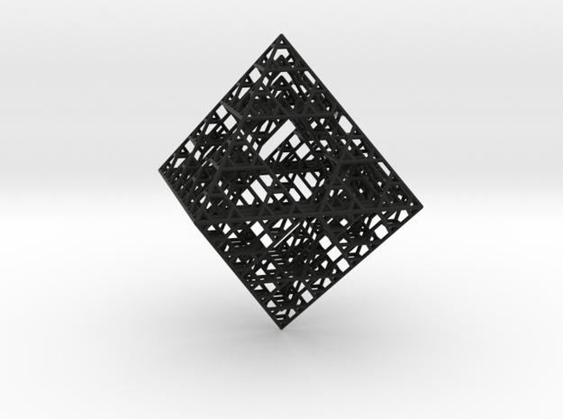 Octahedron fractal graph 3d printed