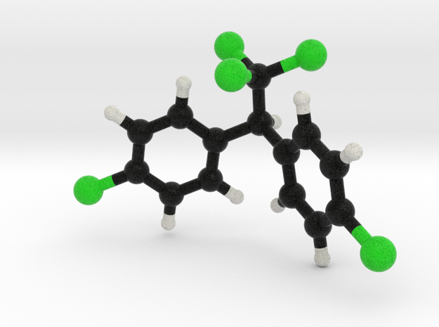 DDT molecule model 3d printed