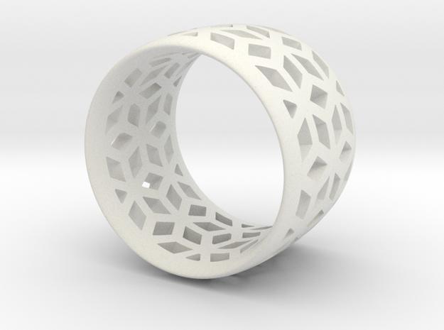 geometric ring 3 in Matte Black Steel