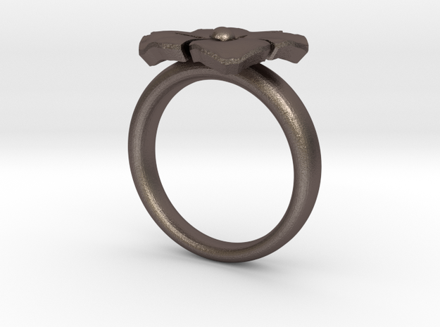 ring flower s 56 in Stainless Steel