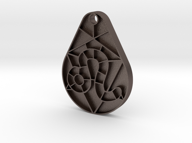Leo Pendant in Polished Bronzed Silver Steel