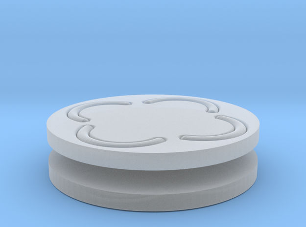 vortex buttons round 3d printed