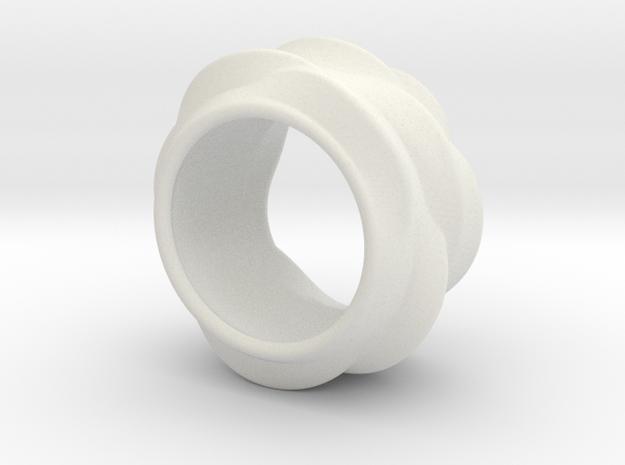 Tree-Ear Light Ring in White Natural Versatile Plastic
