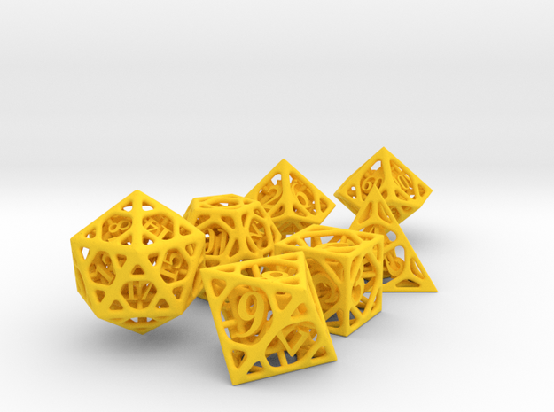 Cage Dice Set with Decader 3d printed