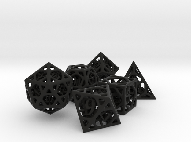 Cage Dice Set 3d printed