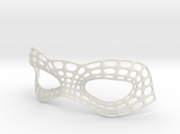 Mesh Mask in White Natural Versatile Plastic