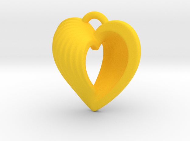 Heart Shell Pendant 3d printed