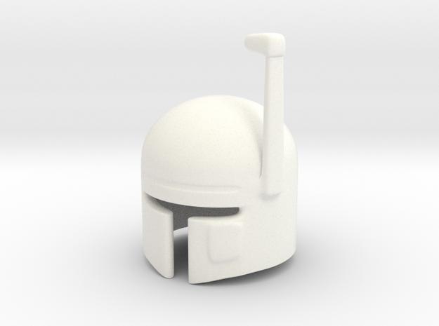 SciFi Helmet (tbn) in White Processed Versatile Plastic
