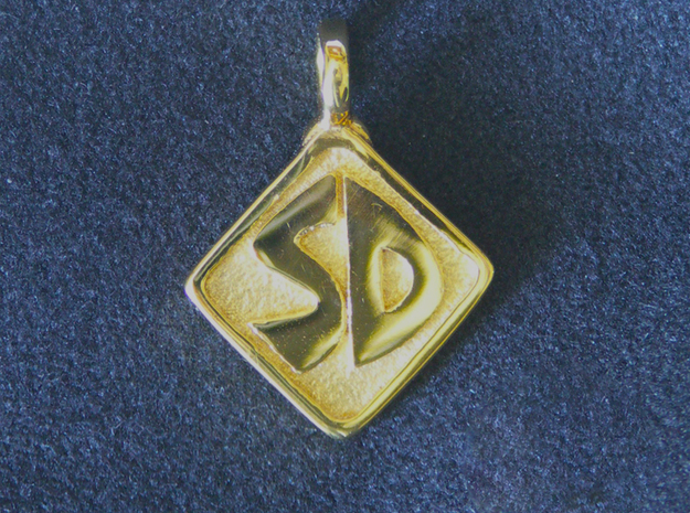 Scooby Doo Pendant in 18k Gold Plated Brass