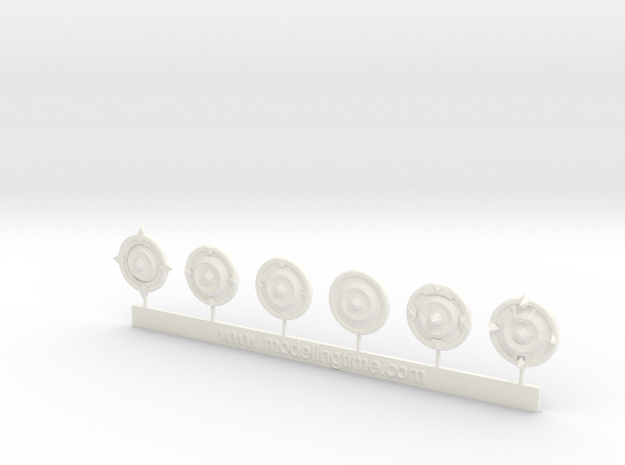 Wargames Shields N°1 in White Processed Versatile Plastic