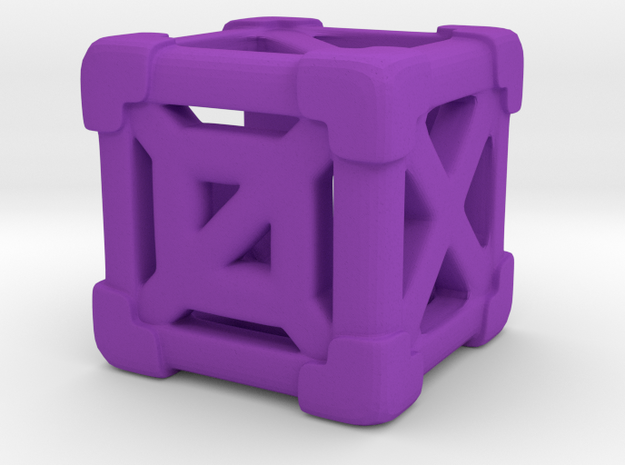 Cage 6-Sided Die - Empty (smaller) 3d printed