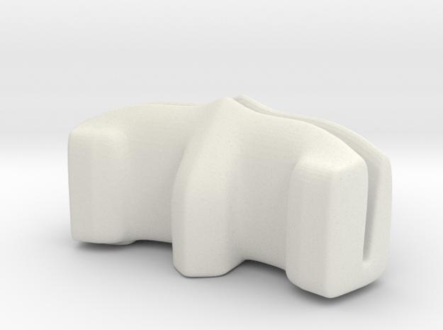 Desktop Photo-Holder in White Natural Versatile Plastic