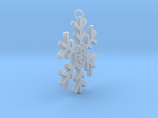 Personalized Snowflake 3d printed