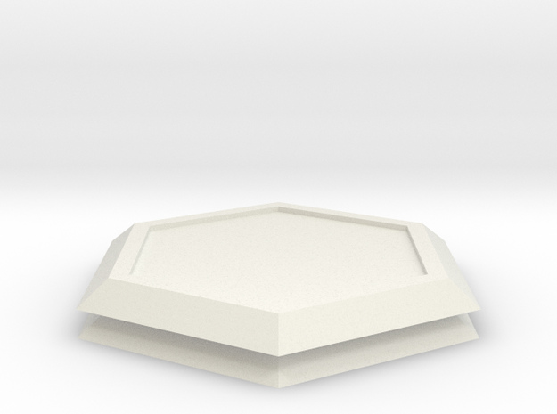 Mecha- Two Hex Baseplates (1/285th) in White Natural Versatile Plastic
