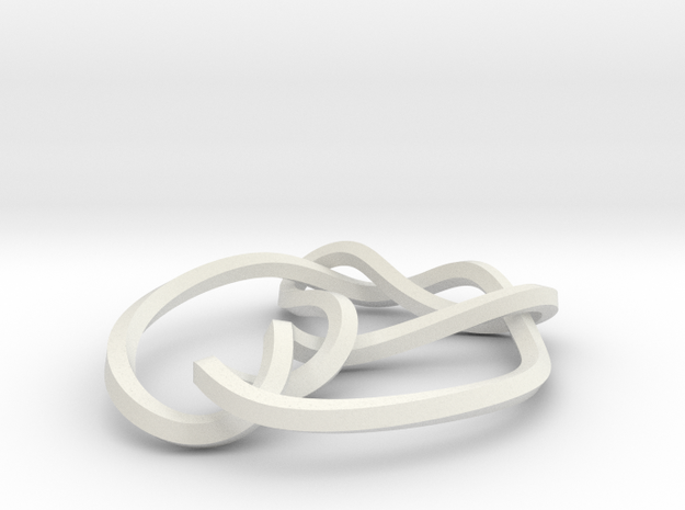 mobius 7_3 knot 360 degree twist 3d printed