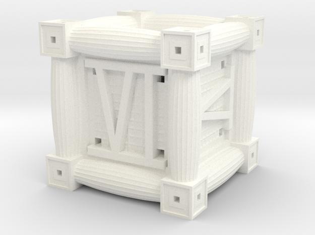 Roman 6-Sided Die 3d printed
