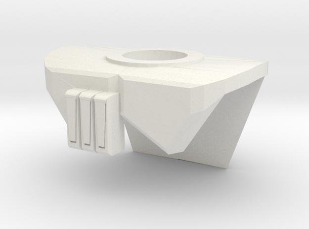 Pauldron T.ARC in White Natural Versatile Plastic