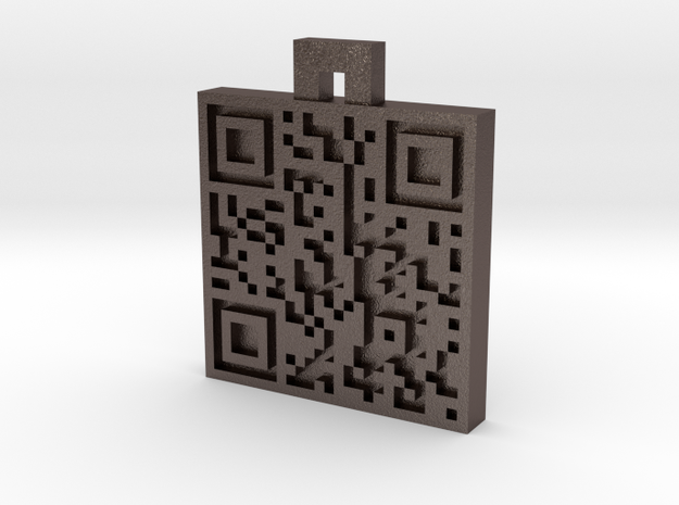 QR steel tag / business card 3d printed