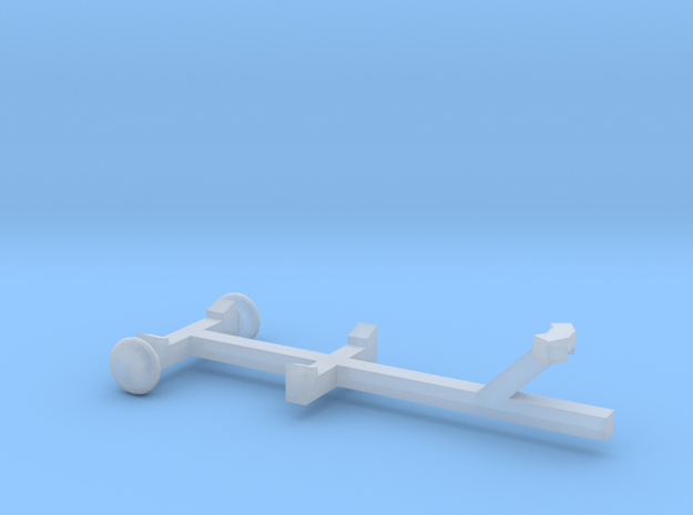 Pleasure Boat Trailer - Z scale  in Smooth Fine Detail Plastic