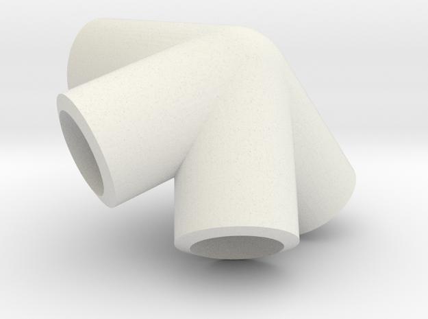 Icosahedron knuckle in White Natural Versatile Plastic