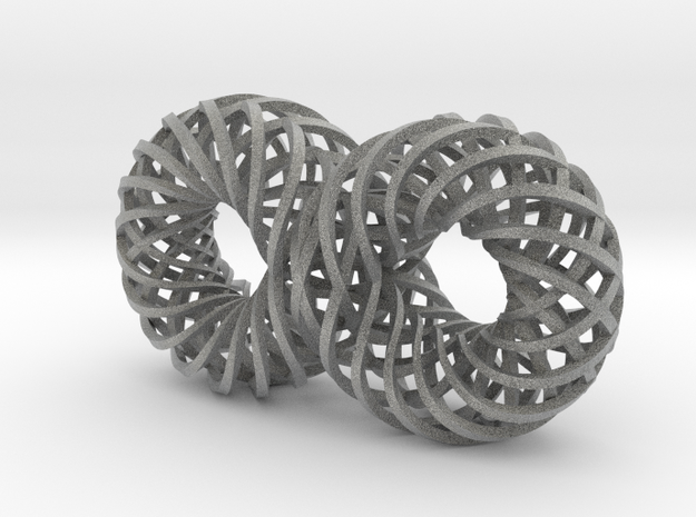 Quadruple Spiralling Infinity - rect 3d printed