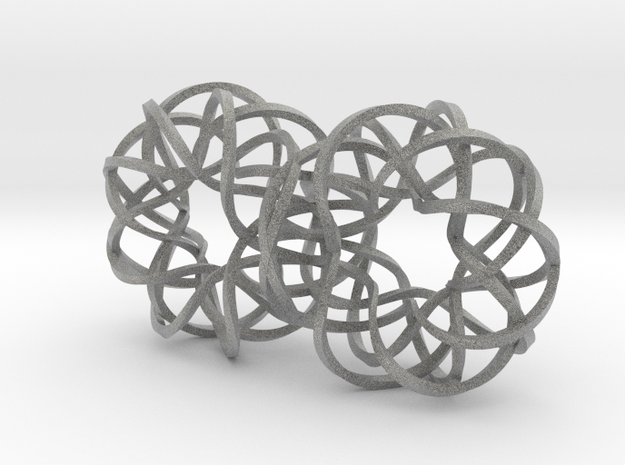 Double Spiralling Infinity - rect 3d printed