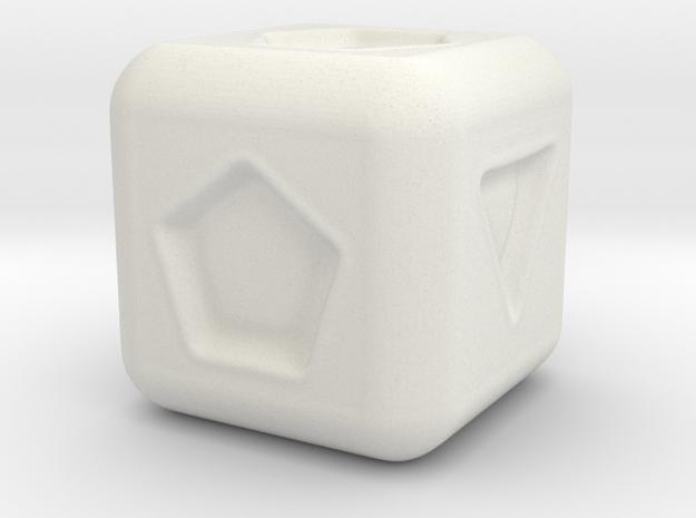 Geometry Die in White Natural Versatile Plastic