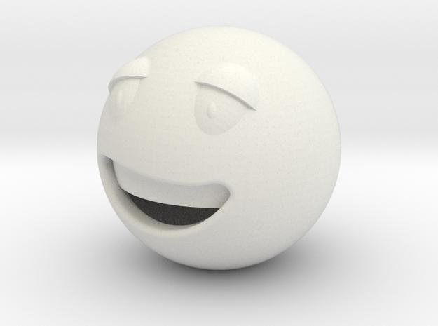 Smile3 in White Natural Versatile Plastic