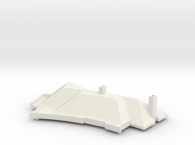 MV's house, roof, v2 in White Natural Versatile Plastic