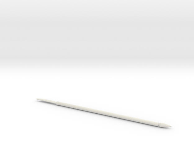 Spear in White Natural Versatile Plastic