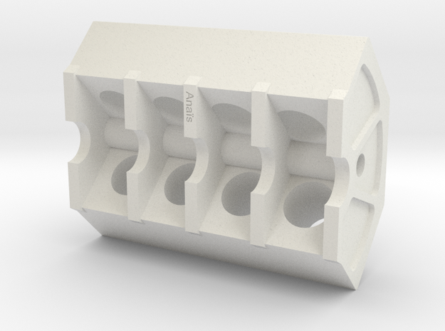 V8 pencil holder in White Natural Versatile Plastic