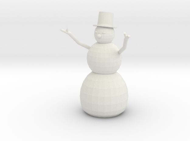 Snowman in White Natural Versatile Plastic