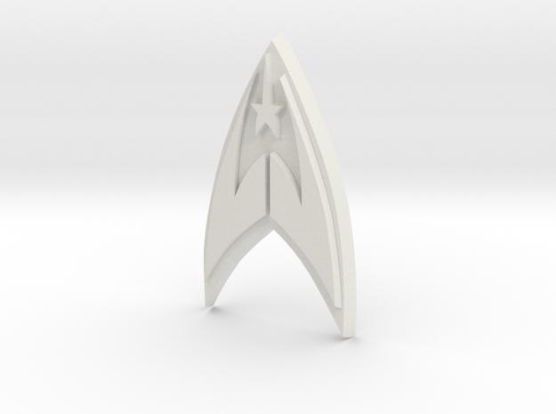 Fleet Badge in White Natural Versatile Plastic