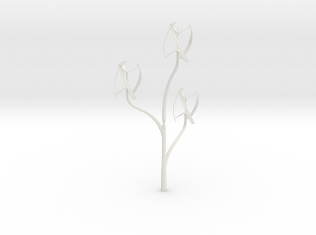 Windmill_treeSMALL in White Natural Versatile Plastic