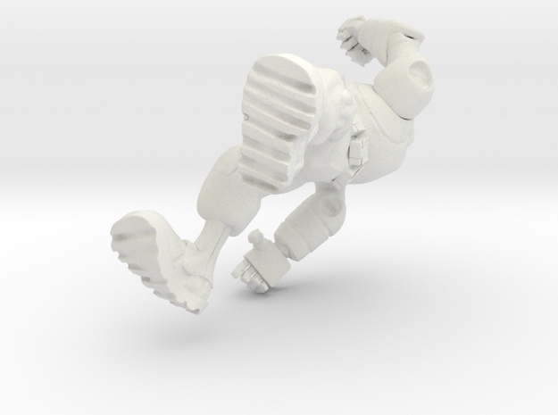 Robot Punch in White Natural Versatile Plastic