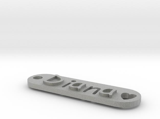 Name Tag Diana 3d printed