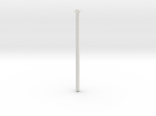 2.65mm double belt in White Natural Versatile Plastic