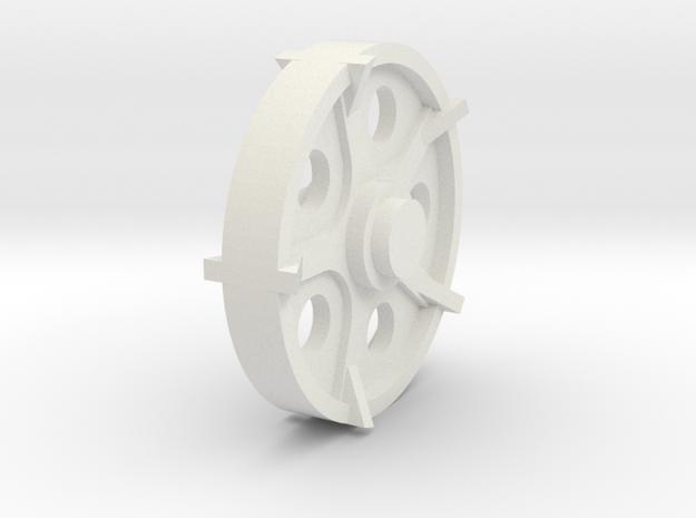 40mm wheel in White Natural Versatile Plastic