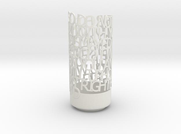 Light Poem 3d printed